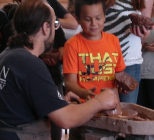 library pottery demonstration